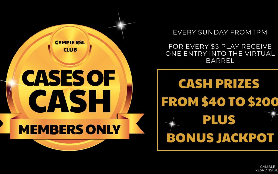 Sunday-Cases of Cash