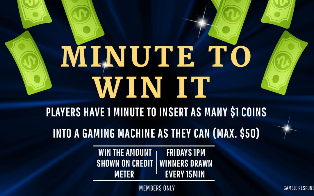 Friday – Minute to Win it