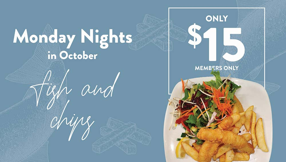 Monday night $15 Fish & Chips special