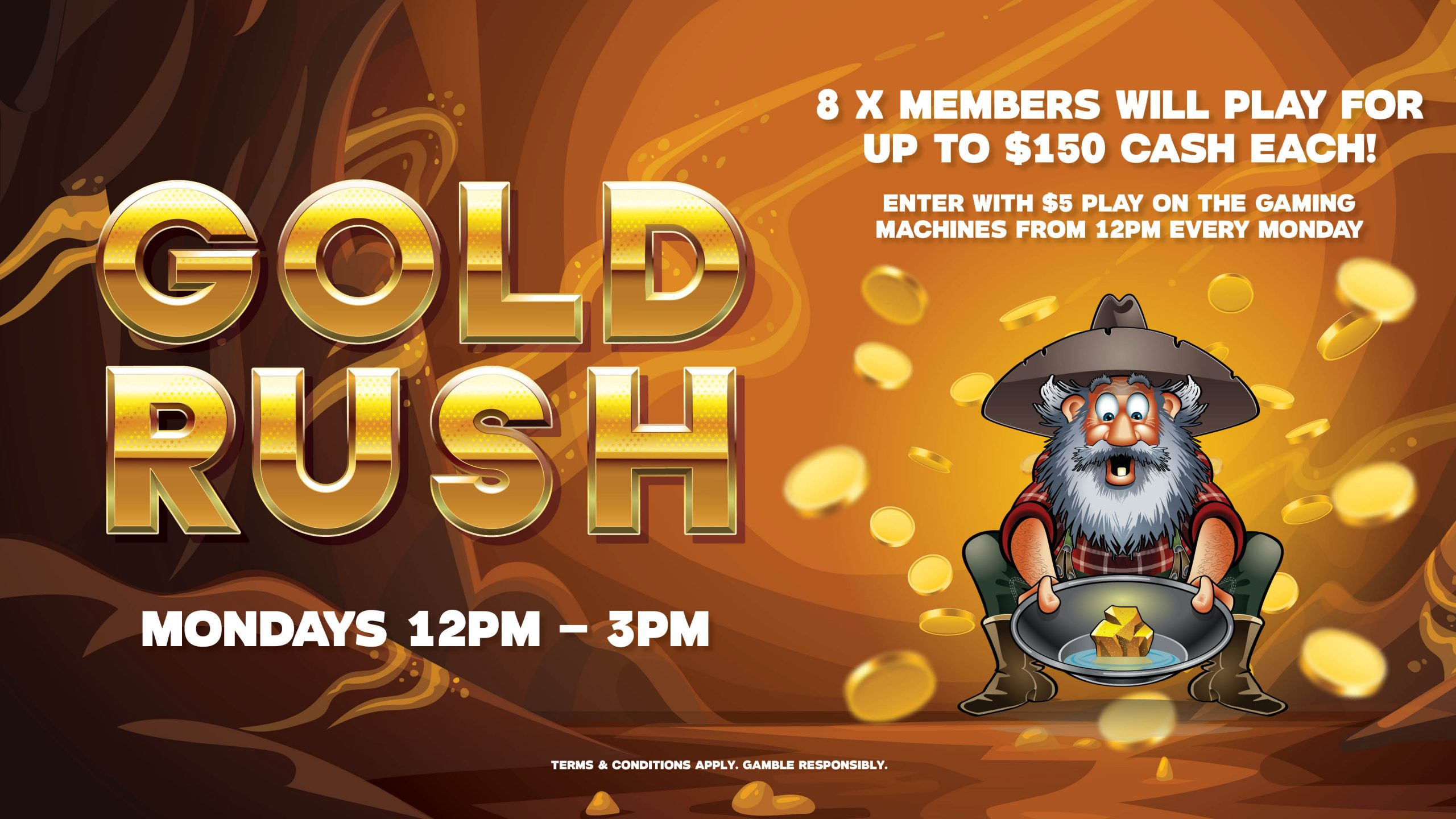 Gold Rush Gympie RSL Gaming Promotions