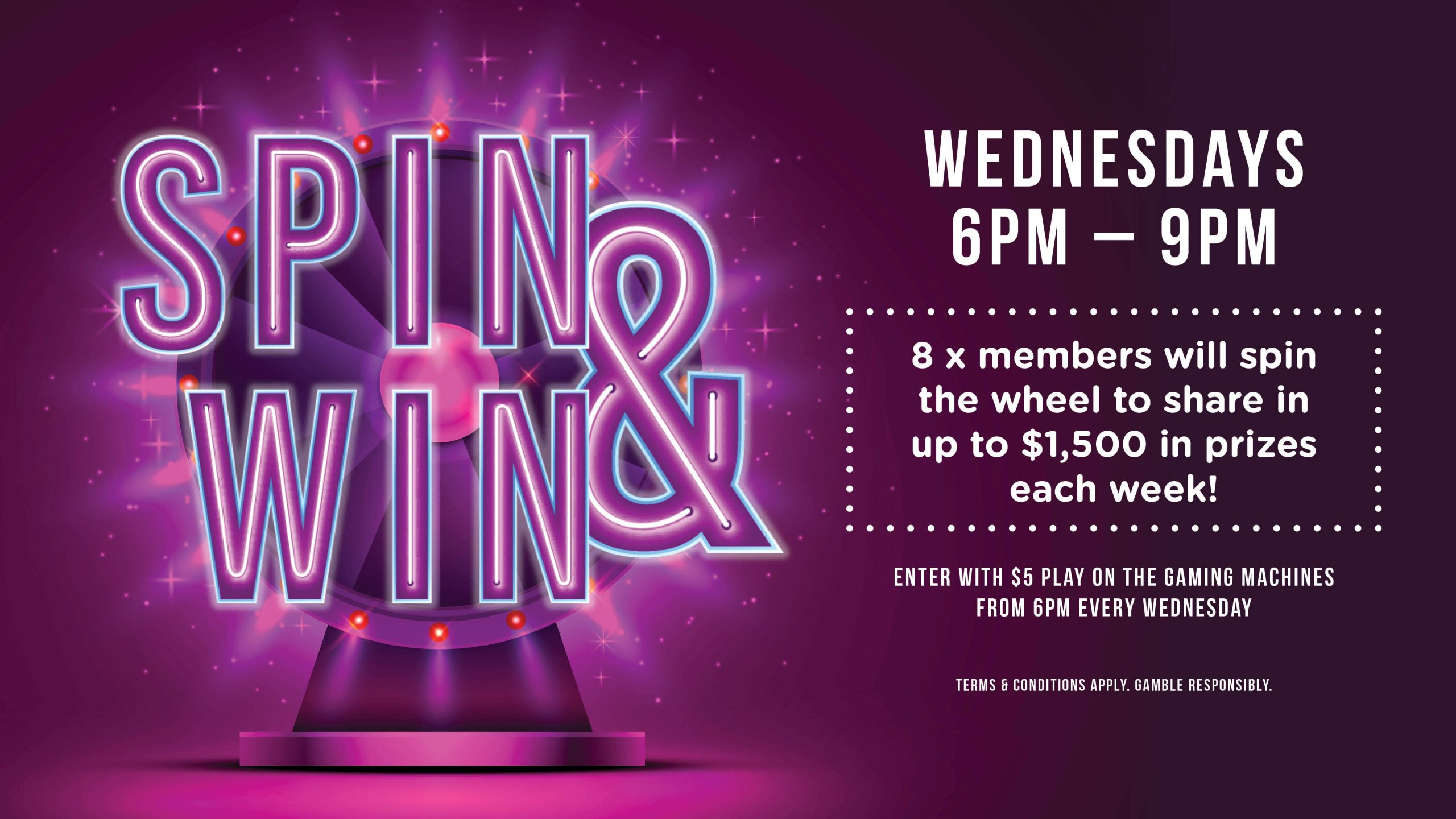 Spin & Win at Gympie RSL