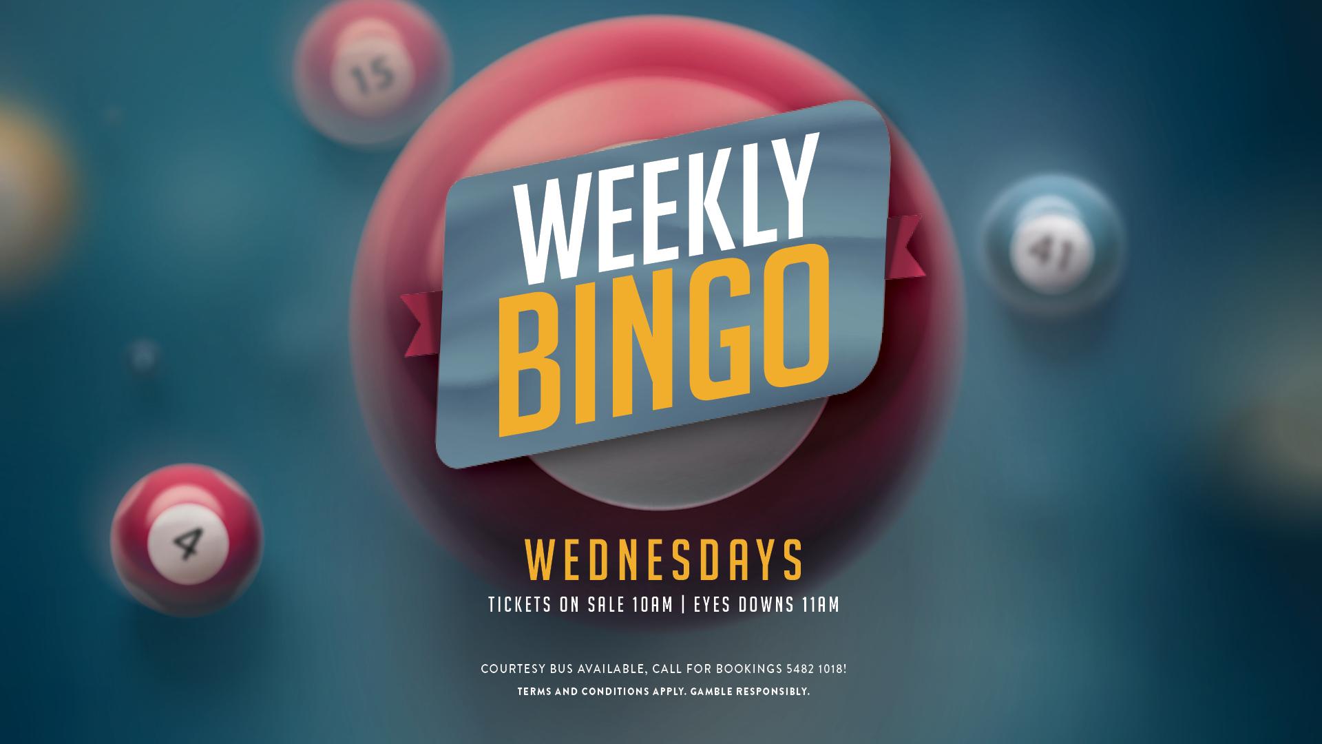 Wednesday Bingo at Gympie RSL
