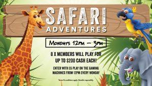 Safari Adventures at Gympie RSL