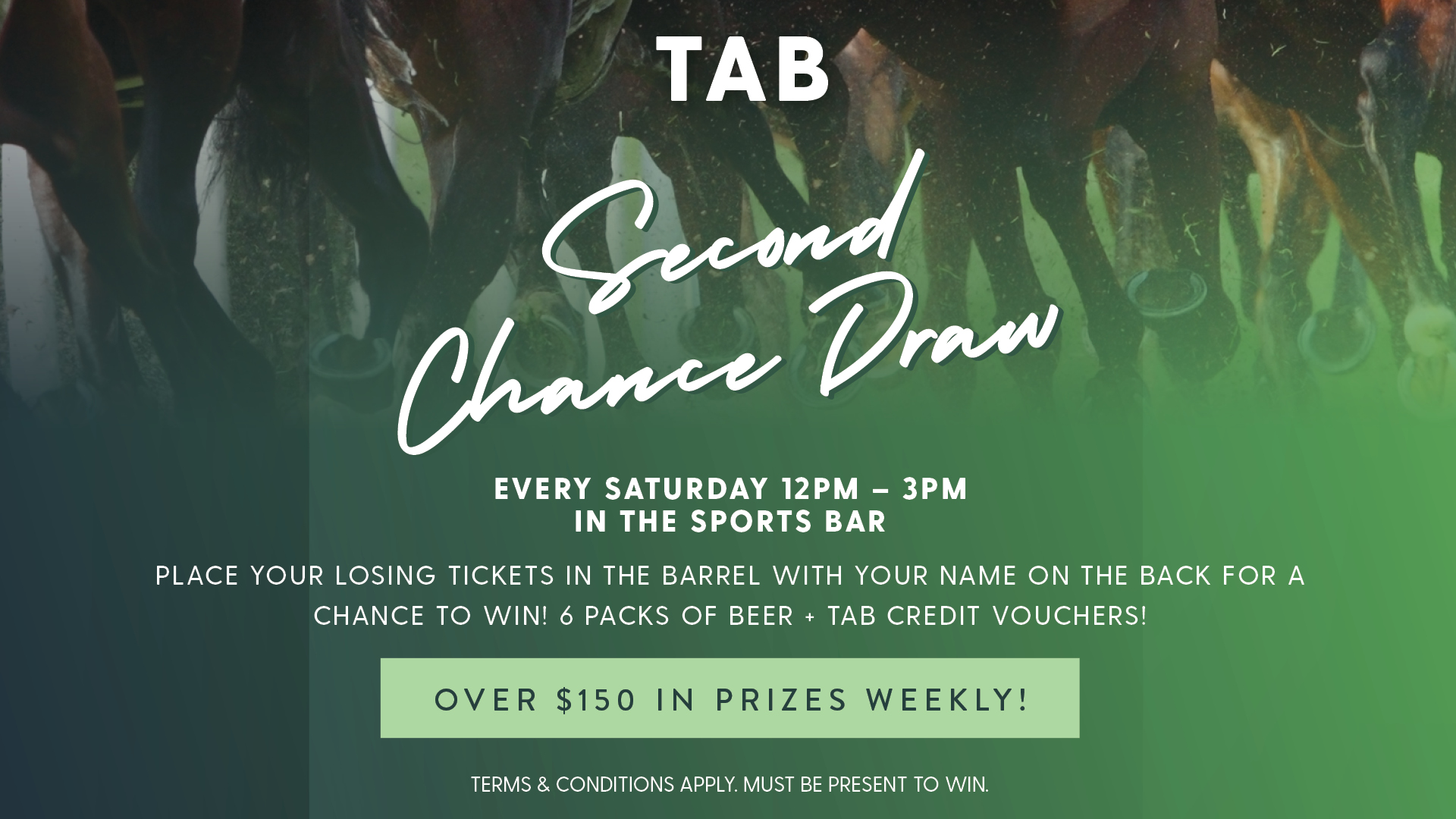 TAB Second Chance Draw at Gympie RSL