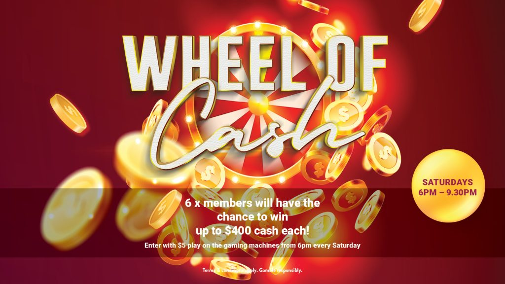 Wheel of Cash at Gympie RSL
